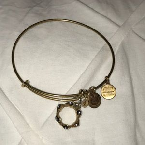 Alex and Ani gold crown bracelet